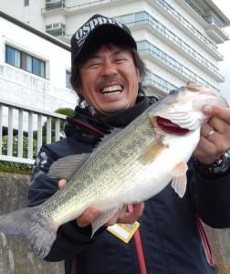 準優勝!&ビッグフィッシュ賞!いい笑顔の松村プロ